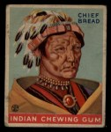 1933 Goudey Indian Gum #160  Chief Bread   Front Thumbnail