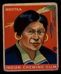 1933 Goudey Indian Gum #104   Nootka  Front Thumbnail