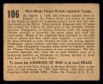 1938 Gum Inc. Horrors of War #106   Man-Made Floods Drown Japanese Troops Back Thumbnail