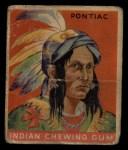 1933 Goudey Indian Gum #28  Pontiac   Front Thumbnail