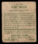 1933 Goudey Indian Gum #160  Chief Bread   Back Thumbnail