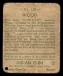 1933 Goudey Indian Gum #210   Wood  Back Thumbnail