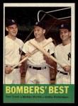 1963 Topps #173   -  Mickey Mantle / Bobby Richardson / Tom Tresh Bomber's Best Front Thumbnail