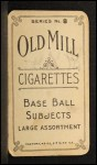 1910 T210-8 Old Mill Southern League  Brooks  Back Thumbnail