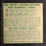 1952 Red Man #4 AL x Gil Coan  Back Thumbnail