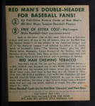 1952 Red Man #13 AL George Kell  Back Thumbnail