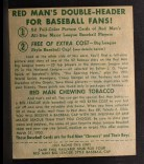 1952 Red Man #3 AL Yogi Berra  Back Thumbnail