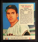 1955 Red Man #6 NL Sal Maglie  Front Thumbnail