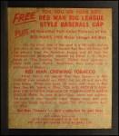 1955 Red Man #18 AL Larry Doby  Back Thumbnail