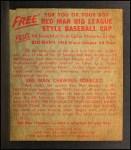 1955 Red Man #8 AL Bob Lemon  Back Thumbnail