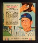 1955 Red Man #8 AL Bob Lemon  Front Thumbnail