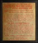 1955 Red Man #3 AL Whitey Ford  Back Thumbnail