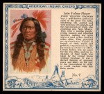 1952 Red Man American Indian Chiefs #7   John Yellow Flower Front Thumbnail