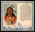 1952 Red Man American Indian Chiefs #12   Always Riding Front Thumbnail