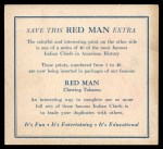 1952 Red Man American Indian Chiefs #30   Red Thunder Back Thumbnail