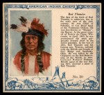 1952 Red Man American Indian Chiefs #30   Red Thunder Front Thumbnail