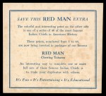 1952 Red Man American Indian Chiefs #35   Mad Bear Back Thumbnail