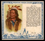 1952 Red Man American Indian Chiefs #35   Mad Bear Front Thumbnail