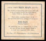 1952 Red Man American Indian Chiefs #21   John Grass Back Thumbnail