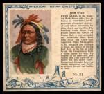 1952 Red Man American Indian Chiefs #21   John Grass Front Thumbnail