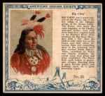 1952 Red Man American Indian Chiefs #23   Big Chief Front Thumbnail