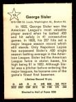 1961 Golden Press #13  George Sisler  Back Thumbnail