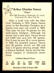 1961 Golden Press #26  Dazzy Vance     Back Thumbnail