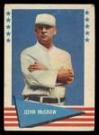 1961 Fleer #60  John McGraw  Front Thumbnail