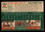 1954 Topps #88  Matt Batts  Back Thumbnail