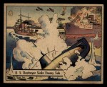 1941 Gum Inc. War Gum #6   U.S. Destroyer Sink Enemy Sub Front Thumbnail