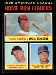 1971 Topps #65   -  Frank Howard / Harmon Killebrew / Carl Yastrzemski AL HR Leaders  Front Thumbnail