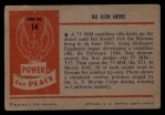 1954 Bowman Power for Peace #14   No Kick Here! Back Thumbnail