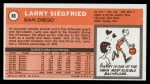 1970 Topps #88  Larry Siegfried   Back Thumbnail