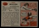 1957 Topps #120  Paul Miller  Back Thumbnail