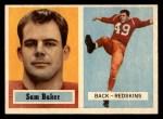 1957 Topps #72  Sam Baker  Front Thumbnail