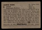 1952 Bowman Small #6  Laurie Niemi  Back Thumbnail