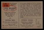 1954 Bowman #110  Steve Meilinger  Back Thumbnail
