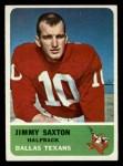 1962 Fleer #26  Jimmy Saxton  Front Thumbnail