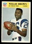 1966 Philadelphia #93  Willie Brown  Front Thumbnail