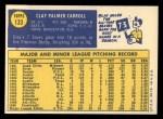 1970 Topps #133  Clay Carroll  Back Thumbnail