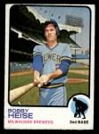 1973 Topps #547  Bob Heise  Front Thumbnail