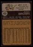 1973 Topps #633  Ike Brown  Back Thumbnail