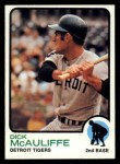 1973 Topps #349  Dick McAuliffe  Front Thumbnail