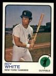 1973 Topps #25  Roy White  Front Thumbnail