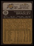 1973 Topps #336  Tom Bradley  Back Thumbnail