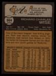 1973 Topps #364  Rick Wise  Back Thumbnail