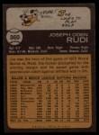 1973 Topps #360  Joe Rudi  Back Thumbnail