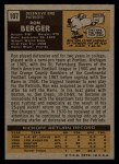 1971 Topps #107  Ron Berger  Back Thumbnail
