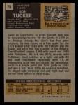 1971 Topps #79  Bob Tucker  Back Thumbnail