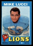 1971 Topps #105  Mike Lucci  Front Thumbnail
